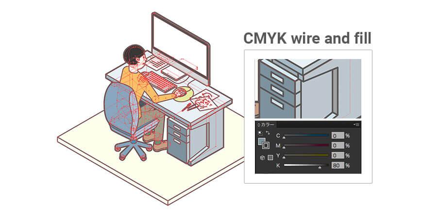 CMYKモードで作っています