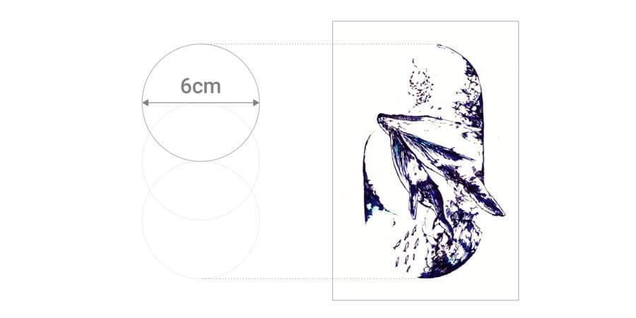 6cm 円の図
